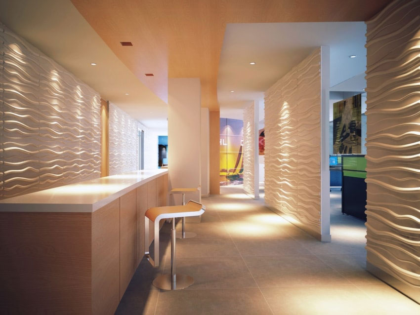 Faktum 3D Board White Wall Panels - 3D Panel Nigeria on